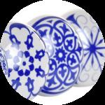 Con tapón Ilustración azul